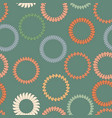 seamless background with rings from springs vector image vector image