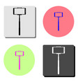 selfie stick with mobile phone flat icon vector image vector image