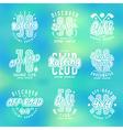 Set of sport emblems rafting diving golf vector image