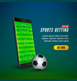 sports betting online web banner template vector image vector image