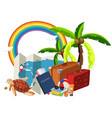 summer holiday element on white background vector image vector image