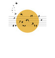 swallows symphony on the sun vector image