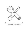 tools linear icon vector image