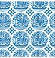 Ukrainian ethnic pattern - seamless texture vector image