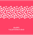 valentines day card with decorative hearts vector image vector image