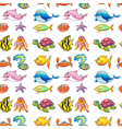 various sea animals vector image vector image