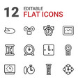 watch icons vector image vector image