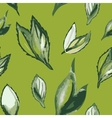 Watercolor seamless pattern with green leaves vector image vector image