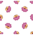Pink flowers seamless background vector image