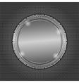 Round Metal Board vector image