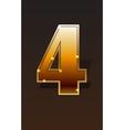 Golden numbers set vector image