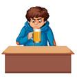 a teenager boy drinking beer vector image