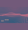 abstract futuristic digital landscape vector image vector image