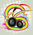 abstract speaker vector image vector image