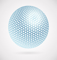Abstract sphere of hexagons background vector image