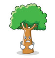 angry tree character cartoon style vector image