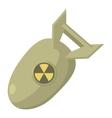 Atomic bomb icon cartoon style vector image vector image