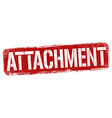 attachment sign or stamp vector image