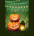 autumn halloween party poster vector image