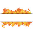 autumn leaves frame on banner with copy space vector image vector image