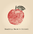back to school apple vector image vector image