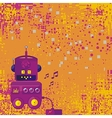 Background With Robot vector image vector image
