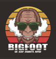 bigfoot cigarette retro vector image vector image