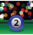 billiard ball vector image