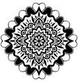 Black Mandala Ornament vector image