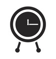 black silhouette of clock icon vector image vector image