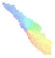 bright sumatra island map vector image vector image