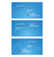 business cards blue set vector image