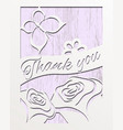 card design thank you with roses vector image vector image