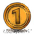 cartoon image of coin icon money symbol vector image