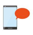 cellphone speech bubble vector image vector image