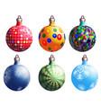 christmas balls variants vector image
