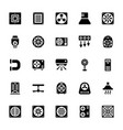 cooling fans glyph icons vector image