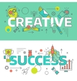 Creative Line Banner Set vector image