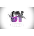 cy c y zebra texture letter logo design with vector image vector image
