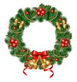 decorative wreath vector image