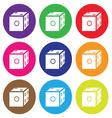dice icon color set vector image