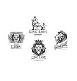 emblems with lions vector image vector image
