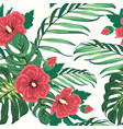 exotic tropical floral greenery seamless pattern vector image vector image