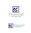 financial logo designs vector image