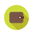 flat modern round wallet icon vector image
