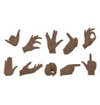 flat style set various black african vector image vector image