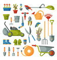 garden tool gardening equipment rake or vector image vector image