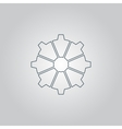 gear icon Flat design style vector image vector image