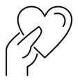 give heart affection icon outline style vector image vector image