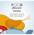 healthy food design infographic icon menu vector image vector image